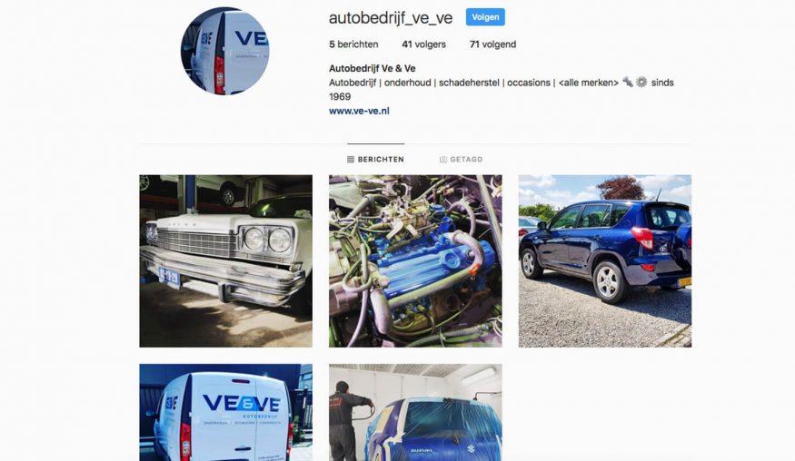Ve & Ve nu ook op Instagram